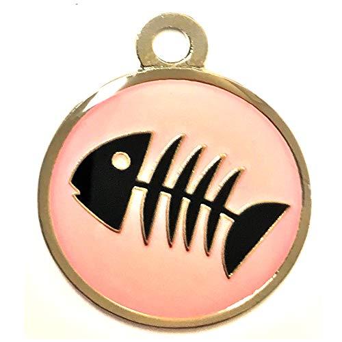 Atomic Market Fish Skeleton Pet Tag (Pink)