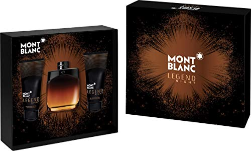 Mont Blanc Montblanc Legend Night geschenkdoos parfum edp 100 ml + douchegel 100 ml + aftershave balsem 100 ml