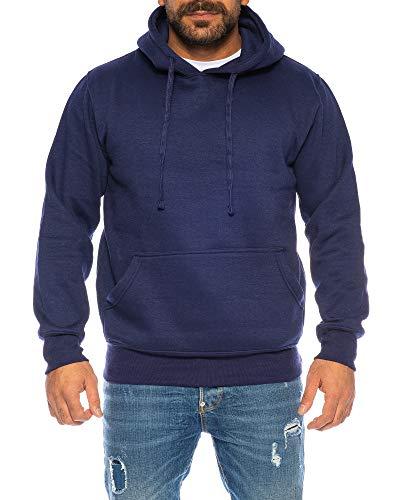 Raff & Taff Hoodie Kapuzenpullover Sweatshirt Sweater Pullover | S - 6XL | Sport Alltag Freizeit | Premium Baumwolle Fleece Innenseite (Navy, 6XL)