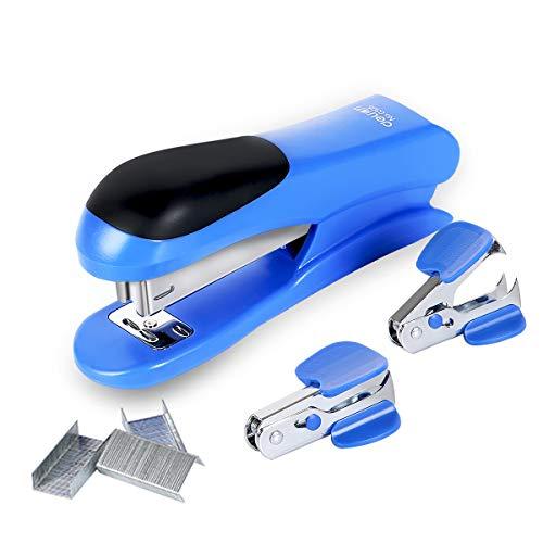 Stapler Value Pack Includes Staples & Staple Remover 20 Sheets Capacity (Blue)
