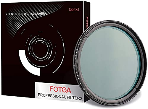 Hersmay Filtro ND da 67 mm, ultra sottile, multi-Coating MC Fader Variable Neutral Density ND Filtro ND2-ND400 Filtro grigio variabile da 67 mm, vetro ottico in alluminio opaco
