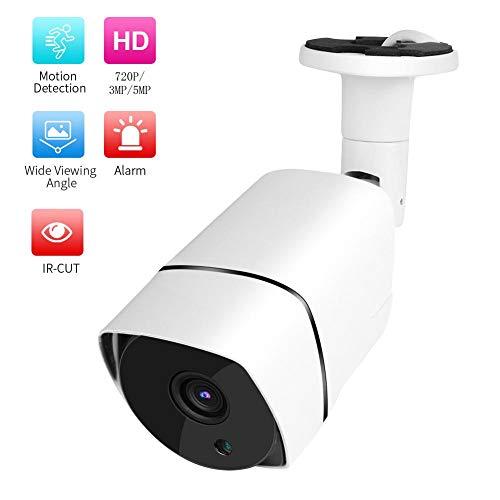 Bullet Camera met bewegingsdetectiefunctie, Beveiligingsbewakingssysteem, Ondersteunt ONVIF, IP66 waterdichte camera met infrarood nachtzichtfunctie, Ruisonderdrukkingscamera(Wit 3MP)