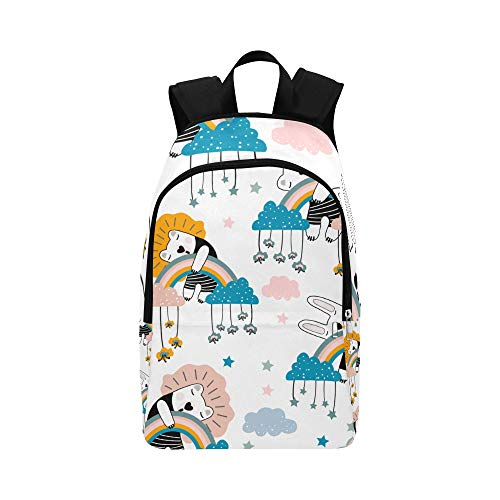 DKGFNK Casual Man Bags Sleeping Rabbit Lovely Durable Water Resistant Classic Best Daypack Backpack Large Hiking Accessories Bag Hiking Backpack Bag