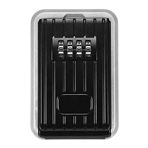 YANJ Caja de Llave con contraseña Caja de Seguridad con Llave Caja de Seguridad con Llave para Exteriores Caja de Aluminio con combinación de 4 dígitos Contraseña Caja Fuerte con Llave