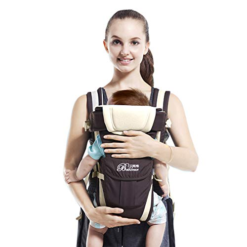 SpringBuds Baby Carriers Front and Back for Newborns to Toddlers, 6-in-1 Kangaroo Baby Carrier Wrap Backpack for Dad and Mom, 0-36 Months