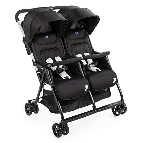 Chicco - Poussette Double Ohlala Twin - Pliage à une main et compacte - Black Night