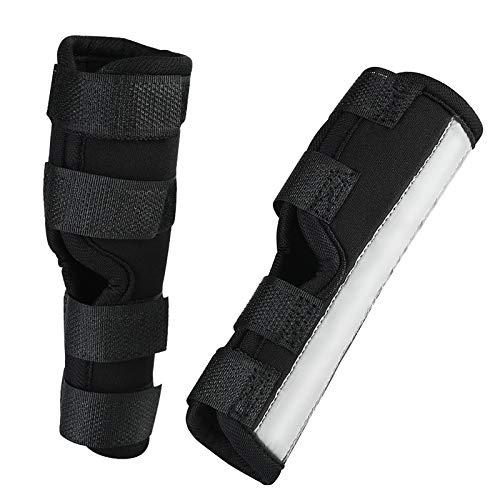Furpaw 1 Paar Bandage Hund, Pfotenschutz Hunde Gelenkbandage für Verletzungen und Verstauchungen, Selbstklebende Bandage Leuchtend für Vorderbein und Hinterbein - S