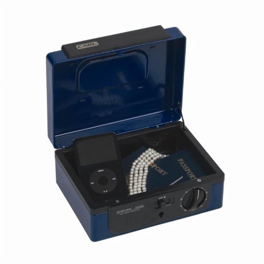 Carl Heavy Duty Dual Combination Cash Box, Small, Blue