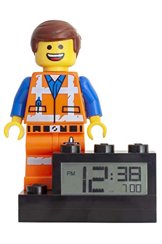 Wecker Lego Movie 2 Emmet, digitales LCD Display mit Hintergrundbeleuchtung, Weck- und Schlummerfunktion, ca. 24 cm