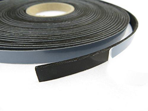 EPDM - Schaum Schwarz 10 mm x 2 mm. Länge: 10 m auf Rolle. einseitig selbstklebend