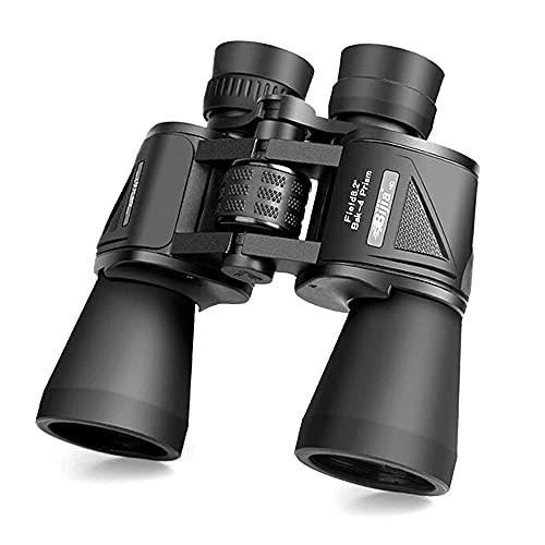 DCLINA Binoculares portátiles HD 10x50, binoculares visión Nocturna con Poca luz con Lente BAK-4 FMC para Adultos, observación Aves, Deportes Caza, Ocular gran24 mm