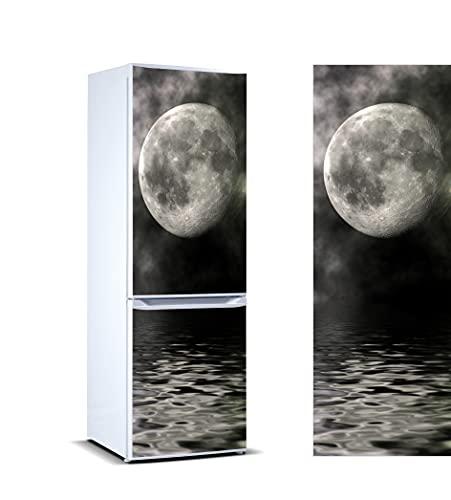 Oedim Vinilo para Frigorífico Luna 185x70cm | Adhesivo Resistente y de Facil Aplicación | Pegatina Adhesiva Decorativa de Diseño Elegante