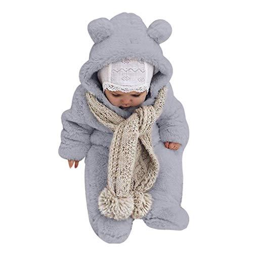 LEXUPE Prämie Reine Baumwolle Set Kleidung, Neugeborenes Baby Strampler Star Kleidung Sets, Hosen Tops Hut Cute Jumpsuit Outfit Body(Grau,70)
