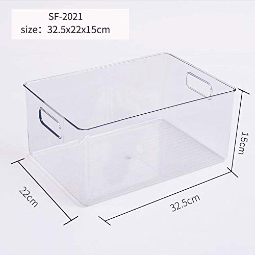 BOXUHII Frigorifero Frence-Keeping Box Bidoni dell'organizzatore della dispensa trasparente Casella di accumulo di accumulo di accumulo di plastica per la cucina per gli armadi controsoffitti Concetto