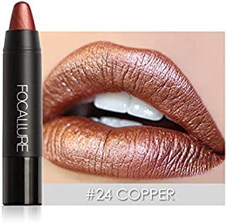 Fashion Make Up Lips Moisturizer Long Lasting Metallic Lipstick Matte Lip Tint Pigment Nude Metals Lipsticks
