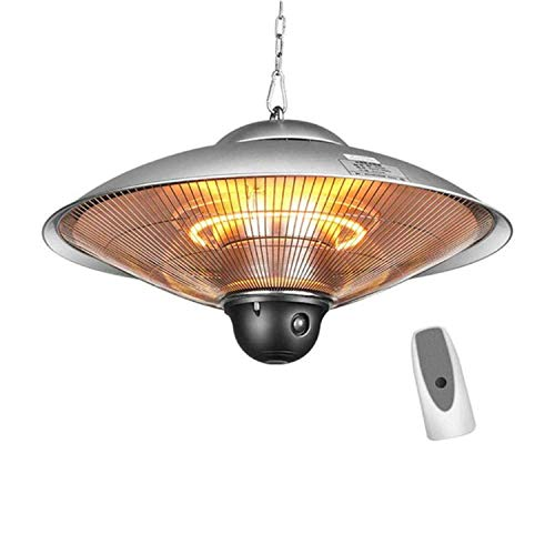 NBVCX Home Decorative Electric Patio Heater-Outdoor Patio Heater-Halogen Fire Tube Heating-Infrared Heaters-Balcony Heater-2200W Hanging Heater Suitable As A BBQ Party Heater