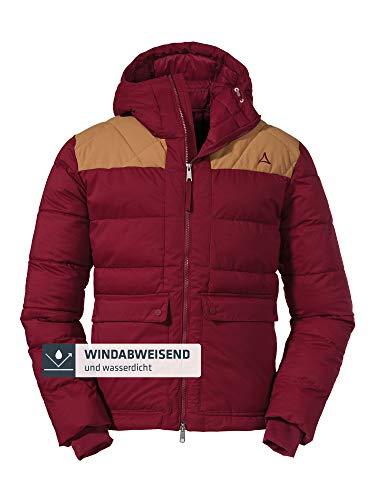 Schöffel Herren Insulated Jacket Boston M sportliche Winterjacke mit Kapuze, wasserdichte und windabweisende Outdoor Jacke, Rot (biking red), 54