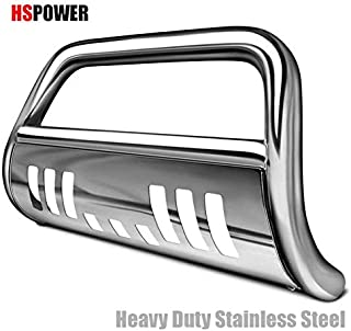 HS Power Chrome Bull Bar Brush Push Bumper Grill Grille Guard for 05+ Frontier/Pathfinder