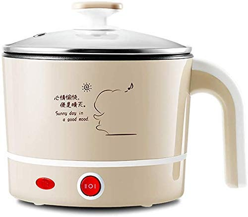 Electric Hot Pot opgewaardeerd, non-stick Sauteacute;Pan, Rapid Noodles Cooker, Elektrische Pot Ketel Multifunctionele Mini for soep koken pap en gestoomde voedsel, 1.2L AQUILA1125