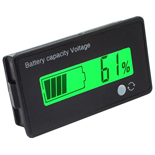 cleanpower 12 V Multifunktionale LCD Blei-Säure-Batterie Kapazität Monitor Manometer Meter für Motorrad Golf Cart Auto