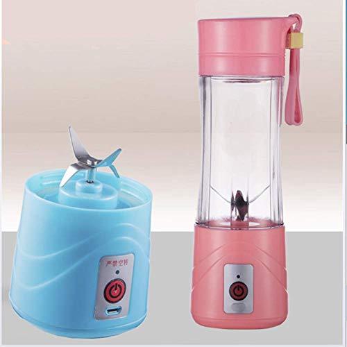 GPWDSN Entsafter Kunststoff, Smoothie Maker, Personal Blender Convenient 4-Leaf Juice Cup Mixer Multi-Funktions-Juicer Entsafter Obst Blau