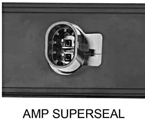 HELLA 2XS 013 327-041 Umrissleuchte - Shapeline Tech - LED - 12/24V - geschraubt - Lichtscheibenfarbe: glasklar - LED-Lichtfarbe: weiß/rot - Stecker: AMP - 2-polig - links/rechts/seitlicherEinbau
