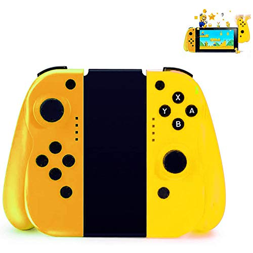YIKUI Mando inalámbrico para Nintendo Switch, Joy-con Controller Gamepad Bluetooth Joystick,Compatible con Joy Pad Switch(L/R) con Giroscopio Y Comodidad Portátil Gamepad,Orange Yellow