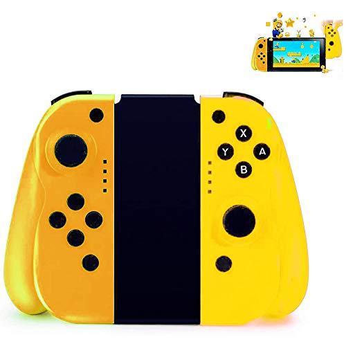 YIKUI Manette Switch sans Fil pour Nintendo Switch,Contrôleurs Remplacement pour Joy-Con (L/R) Commutateur avec Gyro Et Confort Portable Gamepad, Support Filaire Connexion,Orange Yellow