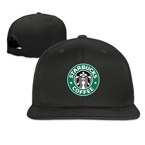ATRXZ Verstellbar Damen Herren Starbucks Logo Graphic Baseball Cap Mütze Baseballcap Hat Snapback Kappe Black