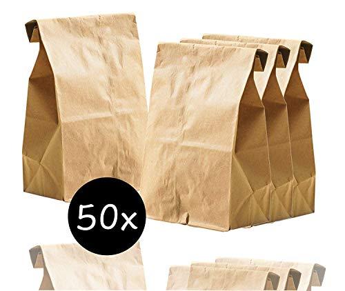 50x braune Beutel 265 x 170 mm Kraftpapiertüten aus Kraftpapier als DIY Adventskalender selber machen Tüten Beutel Papiertüten zum befüllen (50 x Tüten)