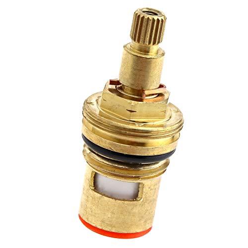 """ENET Válvulas de grifo de 7,6 mm de repuesto de disco de cerámica de latón, cartucho de glándula de 1/4 cuarto de vuelta, 20 dientes G 1/2"""""""