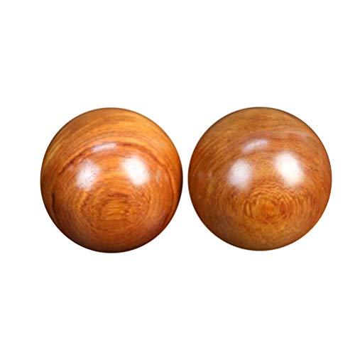 Supvox 2pcs Holz Baoding Balls Stressreduzierung Qigongkugeln Chinesische Gesundheit Übung Bälle (5cm)