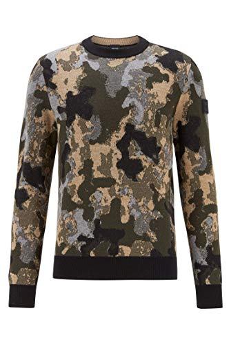 BOSS Krevenant suéter, Negro (1), M para Hombre