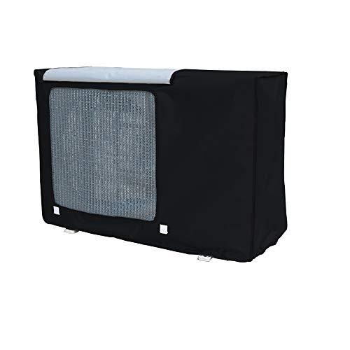 Copri motore del condizionatore ,Motore Condizionatore da Esterno Copertura del condizionatore(Black,L)