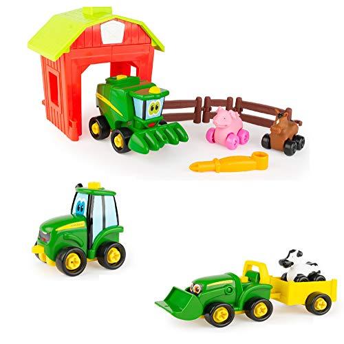 TOMY John Deere Build-A-Buddy Value Bundle 3-in-1 Toy Set, Multi