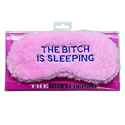 Plush luxury eyemask The Bitch is Sleeping embroidered on it Fluffy and soft eyemask Perfect gift for your girfriend Model number: DP0034