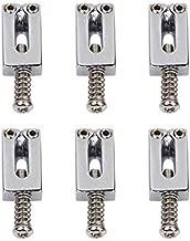 Nuolux Silver Tremolo Bridge Saddles for Electric Guitar 6pcs