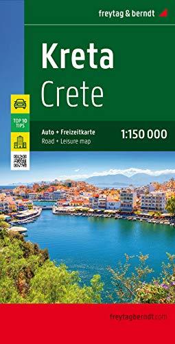Kreta, Autokarte 1:150.000, Top 10 Tips: Top 10 Tips Sehenswürdigkeiten. Citypläne. Ortsregister mit Postleitzahlen (freytag & berndt Auto + Freizeitkarten)