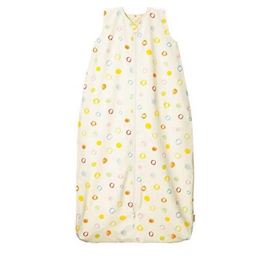 Cotonea Bio-Baumwolle Kinderschlafsack mit Teddyplüschfutter Design Kritzelkreise 90