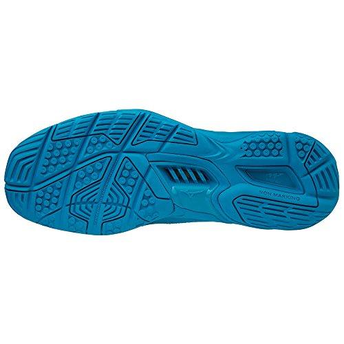 Mizuno Herren Wave Stealth V Sneakers, Mehrfarbig (Bluejewel/White/Hocean 001), 44.5 EU