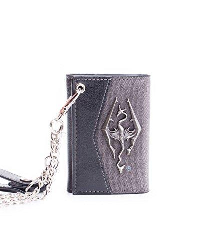 Bioworld Skyrim - Geldbörse mit Kette mit Metall- Drachenabzeichen