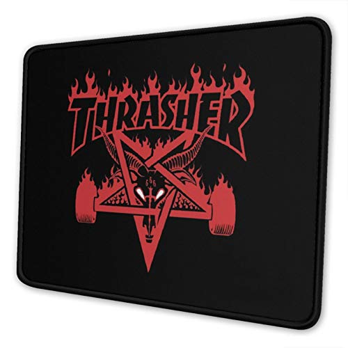 Thrash-Er Gaming Mouse Pad Mat Non-Slip Mousepad Rubber Base and Stitched Edges Laptop Pc Game Players Office 7.9 x 9.5 in