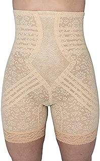Rago Women's Plus-Size Hi Waist Long Leg Shaper, Beige, 4X-Large (38)