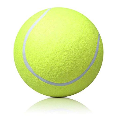 Koobysix Dog Supplies Riesiger Tennisball 24 cm Pet Toy Signature Mega Jumbo Big Tennis Ball Geschenk für Ihren Hund