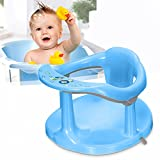 Baby Bath Seat, Portable Toddler Child Bathtub Seat for 6-18 Months,Newborn Baby Bath Seat,Infant Cute Bathtub Support,with Backrest Support and Suction Cups Tub Seats for Babies (Blue)