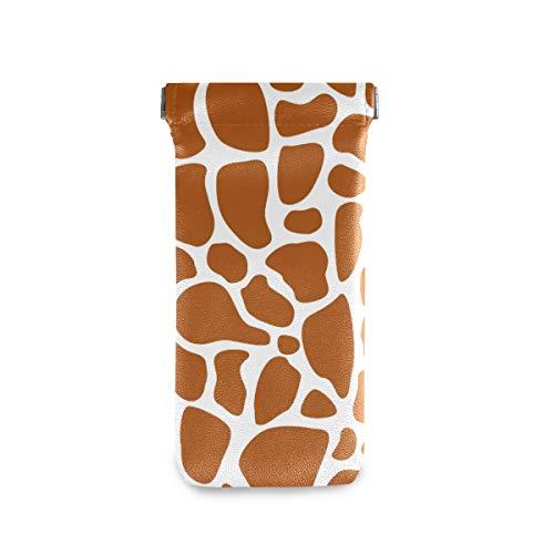 linomo - Funda para gafas de sol con estampado de jirafa de animales, microfibra, piel, bolsa de almacenamiento para gafas y teléfonos móviles
