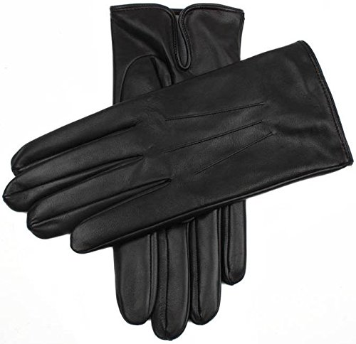 Dents Mens Berkeley Silk Lined Hairsheep Leather Gloves - Black - Extra Extra Large