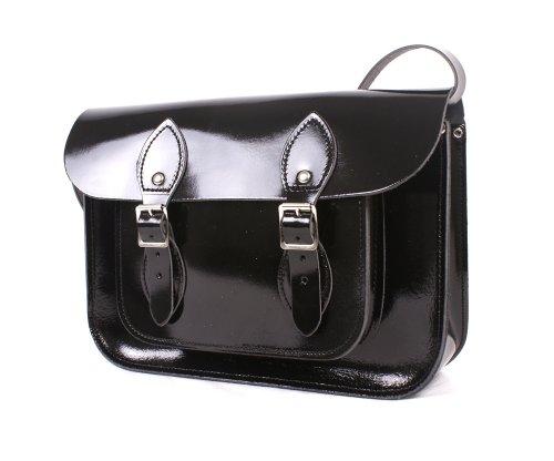 Leather Satchel's, Cartable mixte adulte Noir Noir