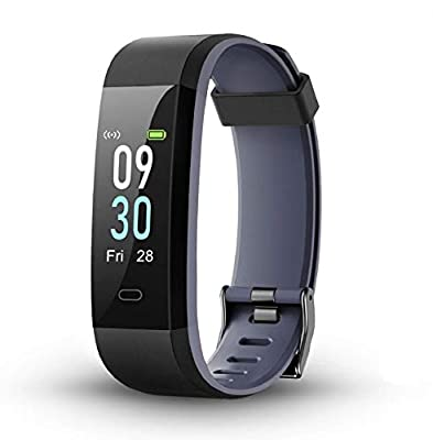 LETSCOM Fitness Tracker with Heart Rate Monitor, Color Screen Smart Watch with Sleep Monitor, Step Counter, Calorie Counter, IP68 Waterproof Pedometer Watch for Women Men