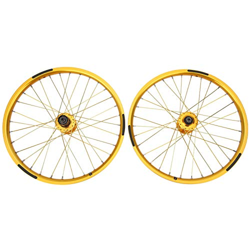 Cuque Juego de Ruedas para Bicicleta, Juego de Ruedas para Bicicleta, Estable, confiable, práctico, 1 par, Resistente, Duradero para Accesorios de Ciclismo, Bicicleta de montaña, 20 Pulgadas, 406